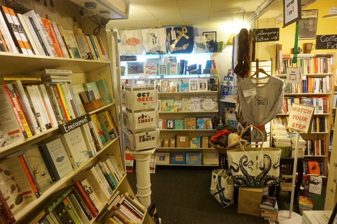 interior of Buxton Village Books